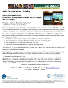 UVM ext farms viability