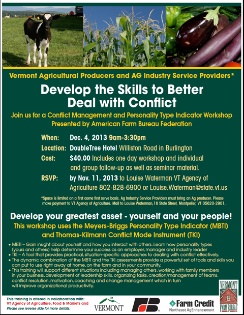 Develop the Skills to Better Deal with Conflict- Workshop December 4th